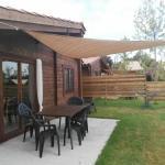 camping rural montori 18259 Terraza chalet de madera